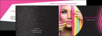 creer modele en ligne depliant 2 volets  4 pages  centre esthetique  coiffure coiffeur coiffeuse MLGI28304
