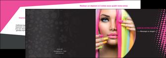 realiser depliant 2 volets  4 pages  centre esthetique  coiffure coiffeur coiffeuse MLGI28306