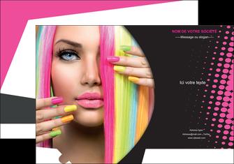 maquette en ligne a personnaliser pochette a rabat centre esthetique  coiffure coiffeur coiffeuse MLGI28308