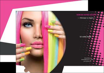 exemple pochette a rabat centre esthetique  coiffure coiffeur coiffeuse MLGI28310