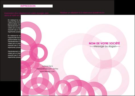 personnaliser maquette depliant 2 volets  4 pages  texture structure contexture MLGI28432