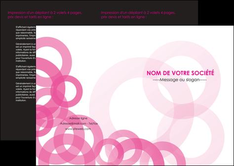 exemple depliant 2 volets  4 pages  texture structure contexture MLIG28434
