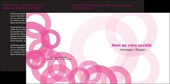 personnaliser maquette depliant 2 volets  4 pages  texture structure contexture MLIG28448