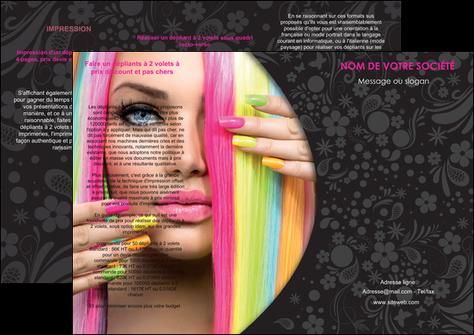 imprimer depliant 3 volets  6 pages  cosmetique coiffure coiffeur coiffeuse MLGI28460