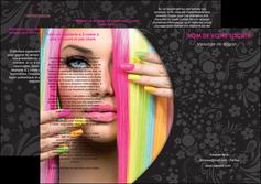 imprimer depliant 3 volets  6 pages  cosmetique coiffure coiffeur coiffeuse MIF28460