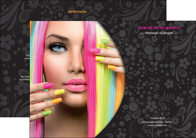 personnaliser maquette flyers cosmetique coiffure coiffeur coiffeuse MLGI28472