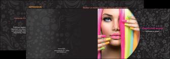 exemple depliant 2 volets  4 pages  cosmetique coiffure coiffeur coiffeuse MLGI28474