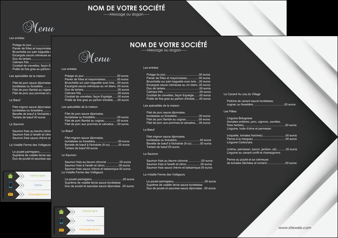 modele en ligne set de table restaurant menu restaurant gastronomie MLGI28560