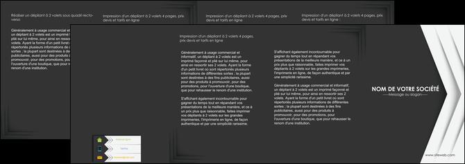faire modele a imprimer depliant 4 volets  8 pages  texture structure contexture MLGI28562