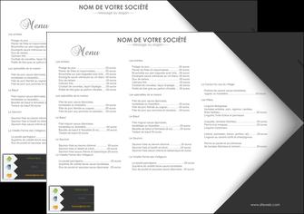 personnaliser maquette set de table restaurant set de table menu set de table menu MIF28744