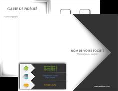 Commander Carte de visite avec logo entreprise ou société  Carte commerciale de fidélité modèle graphique pour devis d'imprimeur Carte de visite Double - Portrait