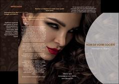 modele depliant 3 volets  6 pages  cosmetique beaute bien etre coiffure MLGI28804