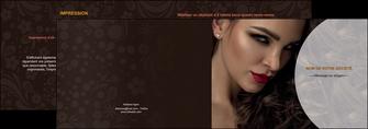 modele depliant 2 volets  4 pages  cosmetique beaute bien etre coiffure MLGI28818