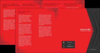 faire modele a imprimer depliant 4 volets  8 pages  texture structure courbes MIF28840