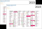 personnaliser modele de affiche en ligne a personnaliser calendrier 2020  bancaire a2 recto et verso 6 mois par page calendrier de bureau MLGI28872