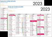 personnaliser modele de flyers gabarit calendrier 2020 bancaire a4 recto et verso 6 mois par page calendrier de bureau periode vacances MLGI28874