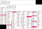 modele en ligne affiche a personnaliser calendrier 2020 bancaire a3 calendrier de bureau 12 mois MLGI28876
