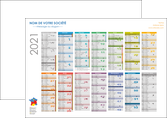impression affiche maquette calendrier 2020 bancaire a2 calendrier de bureau 12 mois MLGI28878