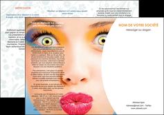personnaliser maquette depliant 3 volets  6 pages  centre esthetique  beaute bien etre coiffure MLGI29024