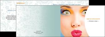 imprimerie depliant 2 volets  4 pages  centre esthetique  beaute bien etre coiffure MLIP29038