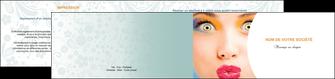 modele depliant 2 volets  4 pages  centre esthetique  beaute bien etre coiffure MLIP29040