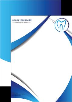 personnaliser maquette affiche dentiste dents dentiste dentier MLGI29094