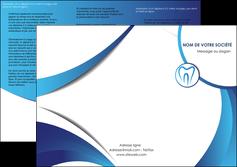 maquette en ligne a personnaliser depliant 3 volets  6 pages  dentiste dents dentiste dentier MLGI29116