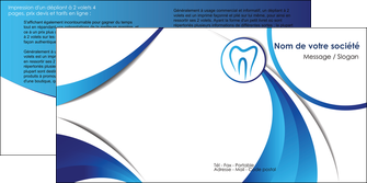 imprimer depliant 2 volets  4 pages  dentiste dents dentiste dentier MLGI29122