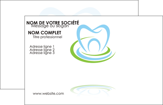 Exemple Carte De Visite Dentiste Dents Dentisterie MLGI29346