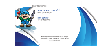 Faire Carte De Correspondance Plomberie Plombier Travail MLGI29408