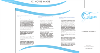 cree depliant 4 volets  8 pages  dentiste dents dentiste dentisterie MIF29460