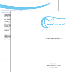 exemple depliant 2 volets  4 pages  dentiste dents dentiste dentisterie MIF29468