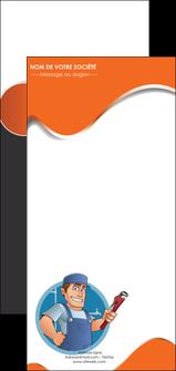 creation graphique en ligne flyers plomberie travail travailleur casquette MLGI29506