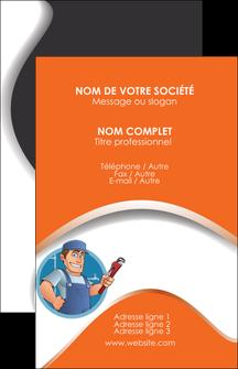 imprimer carte de visite plomberie travail travailleur casquette MLIG29520