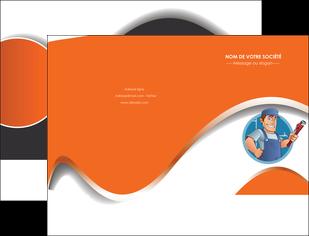 creation graphique en ligne pochette a rabat plomberie travail travailleur casquette MLGI29526