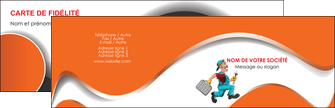 maquette en ligne a personnaliser carte de visite plomberie travail travailleur casquette MIS29578