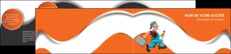 personnaliser modele de depliant 2 volets  4 pages  plomberie travail travailleur casquette MIS29592