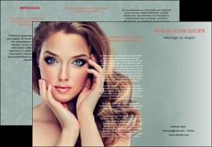 impression depliant 3 volets  6 pages  centre esthetique  beaute bien etre coiffure MLGI29598