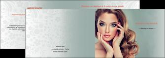 modele depliant 2 volets  4 pages  centre esthetique  beaute bien etre coiffure MLGI29610