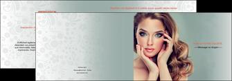 imprimerie depliant 2 volets  4 pages  centre esthetique  beaute bien etre coiffure MLGI29612