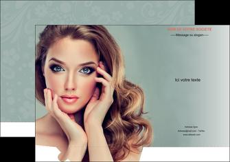 personnaliser maquette pochette a rabat centre esthetique  beaute bien etre coiffure MLGI29614