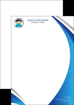 personnaliser maquette tete de lettre infirmier infirmiere medecin medecine sante MIF29626