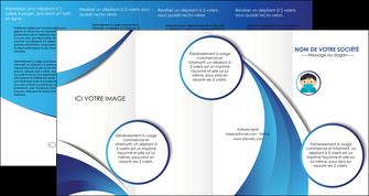 personnaliser maquette depliant 4 volets  8 pages  infirmier infirmiere medecin medecine sante MIF29632