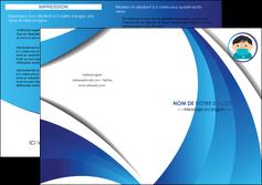 modele depliant 2 volets  4 pages  infirmier infirmiere medecin medecine sante MIF29638