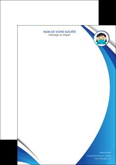 personnaliser modele de tete de lettre infirmier infirmiere medecin medecine docteur MLGI29706