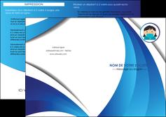 maquette en ligne a personnaliser depliant 2 volets  4 pages  infirmier infirmiere medecin medecine docteur MLGI29718