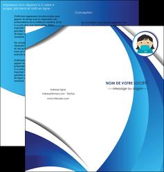 creation graphique en ligne depliant 2 volets  4 pages  infirmier infirmiere medecin medecine docteur MLGI29720