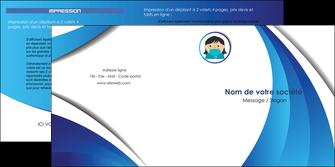 maquette en ligne a personnaliser depliant 2 volets  4 pages  infirmier infirmiere medecin medecine docteur MLGI29730