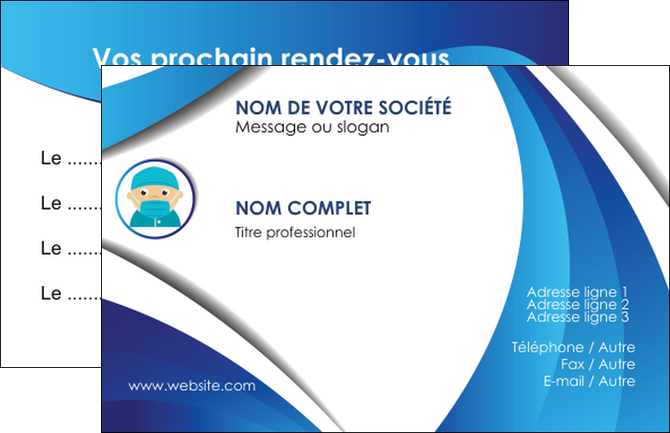 personnaliser modele de carte de visite infirmier infirmiere medecin medecine docteur MLGI29820