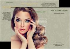 personnaliser maquette depliant 3 volets  6 pages  centre esthetique  beaute bien etre coiffure MLGI29862